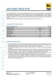 AGIP SIGMA TRUCK PLUS - TransDiesel