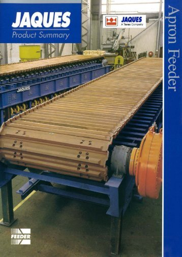 Page 1 Page 2 Apron Feeder THIS MACHINE IS BUILT TO TAKE A ...