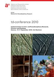 td-conference 2010 - SAGUF Network for Transdisciplinary Research