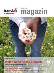 Vielen Dank für die Blumen! - transfair