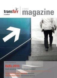 Défis 2013 - transfair