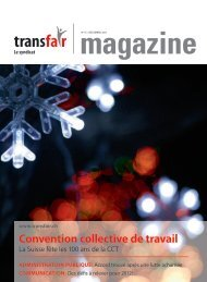 Convention collective de travail - transfair