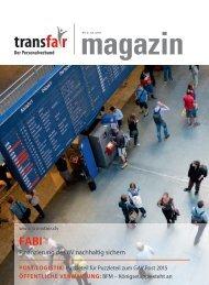 Finanzierung des öV nachhaltig sichern - transfair