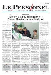 Le Personnel 9 août 2007, No 14 - transfair