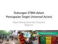 Dukungan STBM dalam Pencapaian Target Universal Access