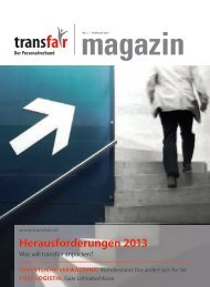 Herausforderungen 2013 - transfair