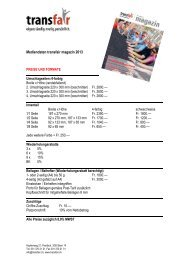Mediendaten transfair magazin 2013