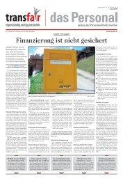 Finanzierung ist nicht gesichert - transfair