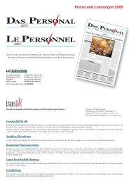 Preise und Leistungen 2008 - transfair