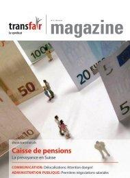 transfair magazine : La prévoyance en Suisse