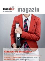 Rückkehr ins Berufsleben - transfair