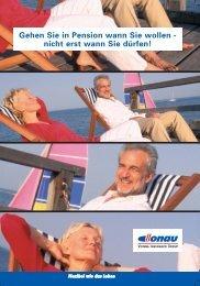Gehen Sie in Pension wann Sie wollen - nicht erst wann Sie d