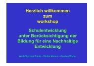 Herzlich willkommen zum workshop Schulentwicklung ... - Transfer-21