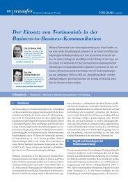 transfer 2_2008.qxd - transfer Zeitschrift - Werbeforschung & Praxis