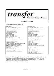 als PDF - transfer Zeitschrift - Werbeforschung & Praxis