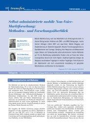 transfer Selbst-administrierte mobile Non-Voice- Marktforschung