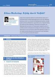 Artikel runterladen - transfer Zeitschrift - Werbeforschung & Praxis