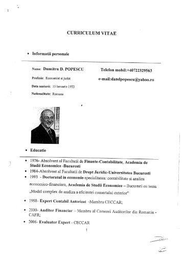 CV - POPESCU Dumitru - Transgaz