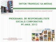 Programul CSR 2012 in format PDF - Transgaz