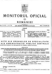 Monitorul Oficial al României, Partea I, nr. 27 bis/16.01 ... - Transgaz