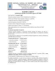 RAPORT CURENT - Transgaz
