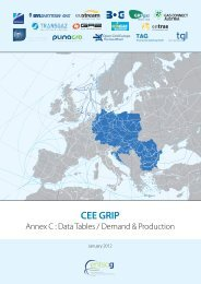 CEE GRIP - Annex C: Data Tables / Demand & Production - GIE