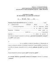 Anexa nr. 1 la Acordul Preliminar pentru rezervarea de ... - Transgaz
