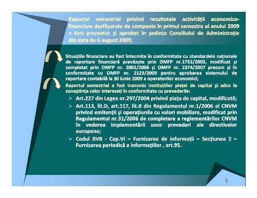 Material discutie cu analistii - Transgaz