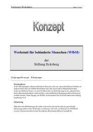 Werkstatt für behinderte Menschen (Wfbm) der Stiftung Ecksberg