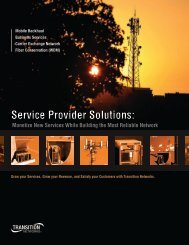 Service Provider Solutions - Transition Networks