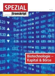 Biotechnologie – Kapital & Börse - BIO Deutschland