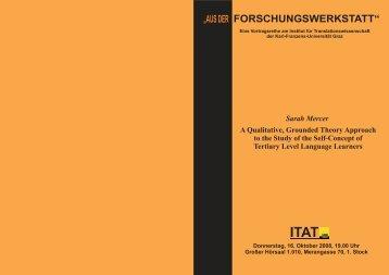 """""""AUS DER FORSCHUNGSWERKSTATT"""" - Translation Concepts"""