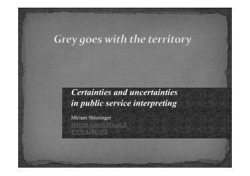 Miriam Shlesinger - Translation Concepts