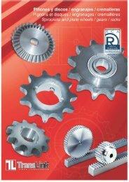 Descárgate el PDF de Piñones y discos / engranajes ... - TRANSLINK