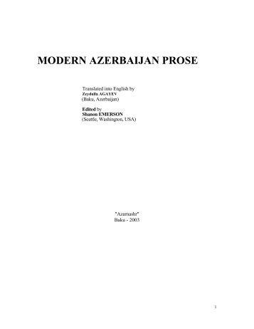 MODERN AZERBAIJAN PROSE