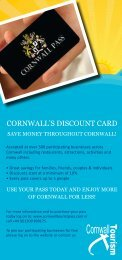 CORNWALL'S DISCOUNT CARD - Cornwall Pass
