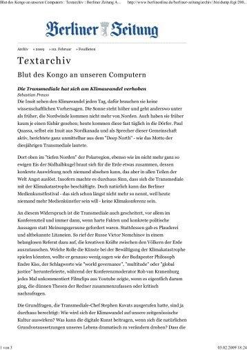 Textarchiv - Transmediale