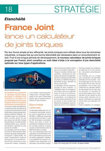 FT146_Etancheite, France Joint lance un calculateur de joints ...