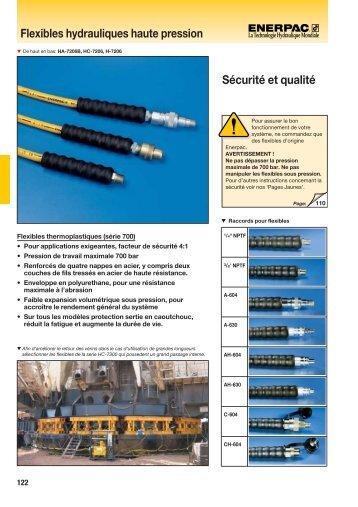 Flexibles hydrauliques haute pression Sécurité et qualité