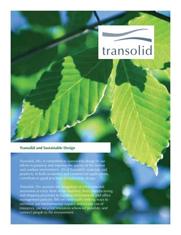 Transolid and Sustainable Design