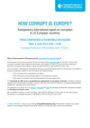 HOW CORRUPT IS EUROPE? - Transparency International EU Office