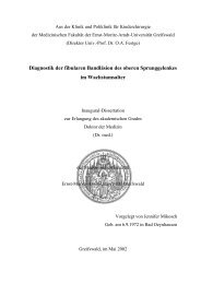 Diagnostik der fibularen Bandläsion des oberen Sprunggelenkes im ...