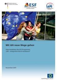 Mit Ida neue Wege gehen - Europäischer Sozialfonds (ESF)
