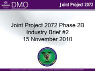 Joint Project 2072 Phase 2B Industry Brief #2 15 November  2010