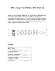 The Dangerous Music 2-Bus Manual