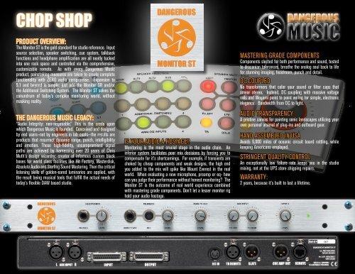 Monitor ST Chop Shop/Fact Snack - Dangerous Music