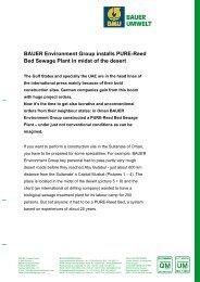 BAUER Environment Group installs PURE ... - BAUER Umwelt GmbH