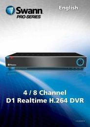 4 / 8 Channel D1 Realtime H.264 DVR - Swann Communications