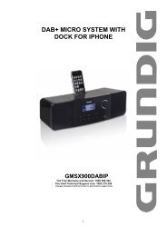 DAB+ MICRO SYSTEM WITH DOCK FOR IPHONE - Grundig Australia