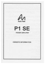 P1SE - Audio Note